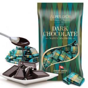 168元 1kg量贩装包邮!瑞士进口爱普诗 天然可可脂 74%COCOA纯黑巧克力 领20元优惠券 日期新鲜!