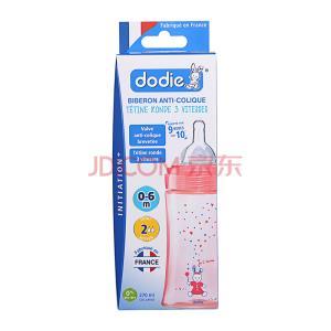 ¥9.9 Dodie三流速-宽口径PP奶瓶270ml(0-6个月)