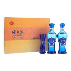 YANGHE 洋河 蓝色经典 海之蓝 浓香型白酒 52度 480ml*2瓶 礼盒装    319元,可合理凑单至238元/件