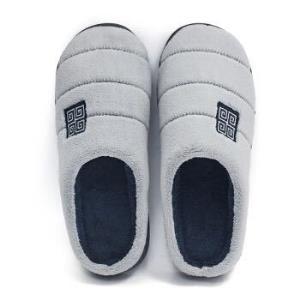 GieniG 条纹款男室内防滑木地板居家保暖舒适短毛绒软底半包跟棉拖鞋男款 GI187002 宝蓝色 41-429.12元