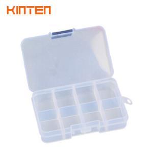 KINTEN 塑料零件盒透明可拆分工具盒手提收纳盒组合式元件盒乐高收纳盒 8格3元