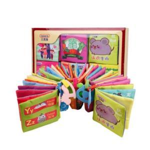beiens 贝恩施 JL8360 婴儿布书 6本装 带牙胶bibi器36元包邮(需用券)
