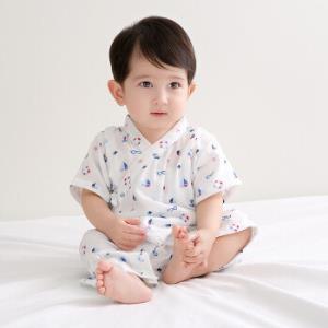 全棉时代 婴儿衣服 婴幼儿纱布和服连体服 73/48(建议6-12个月) 帆船泳圈 1件/袋 *3件 191.68元(合63.89元/件)
