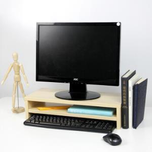 倍方电脑显示器桌 电脑支架 德国枫木双层 电脑液晶显示器增高架 置物架底座 显示器支架 键盘收纳架36元