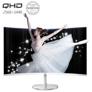 AOC CQ32V1DS 31.5英寸曲面VA电脑显示器(1700R 2K  HDMI+DP接口)