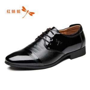 红蜻蜓 (RED DRAGONFLY) 绅士拼接系带正装鞋男皮鞋  WTA70641/42 黑色 41219元