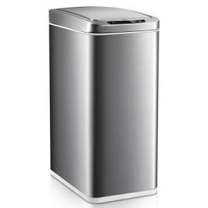 优百纳 智能感应垃圾桶家用 不锈钢垃圾筒电动自动开盖 客厅卧室厨房 upella 智享砂钢 10L468元