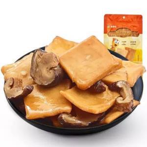 来伊份 休闲零食 豆制品 素食香干 山椒味香菇豆干125g/袋4.45元