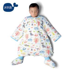 米乐鱼儿童睡袋婴儿抱被宝宝分腿防踢被秋冬夹棉厚款果叶110*64cm174.95元