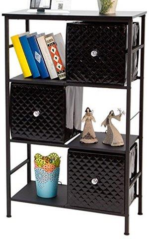 雅客集六格三抽自由组合收纳柜 创意置物架 文艺层架黑色 61*99cm ML-14053119元