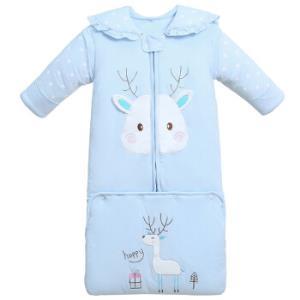 童颜 婴儿睡袋婴儿秋冬加厚新生儿抱被 加长包110蓝色 *2件222元(合111元/件)