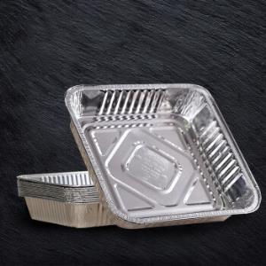 庭好 铝箔餐盘10只装 长方形托锡纸盘可进烤箱1100ml TH7570 *6件110元(合18.33元/件)
