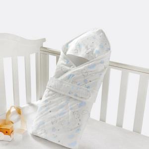 好孩子(GB)新生儿婴儿抱被 纱布夹棉春秋冬全棉针织夹棉襁褓包被 粉 40g *2件149元(合74.5元/件)
