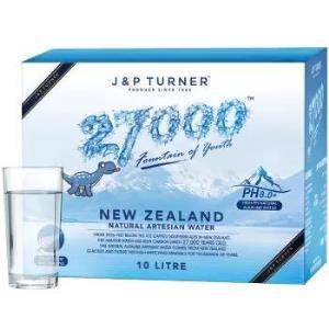 新西兰进口 27000高端婴儿水弱碱性冰川饮用水 10L *2件128元(合64元/件)