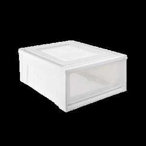 网易严选 抽屉式透明储物柜 28.8L M号143元