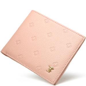 PLOVER 女士短款钱包 头层牛皮革小菱形印花简约多卡位钱包 62000554-1J粉红色 *3件107元(合35.67元/件)
