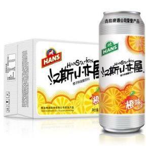 汉斯小木屋 橙味 果啤 500ml*12罐 *3件108元(合36元/件)