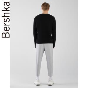 Bershka男士 秋季新款黑色圆领打底毛针织衫 07202185800 59元