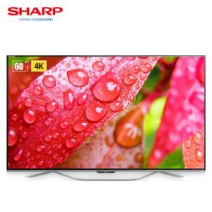 SHARP 夏普 LCD-60SU860A 60英寸 4K 液晶电视5299元