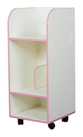 雅客集 智慧之星粉红色儿童收纳柜 电脑边桌 书桌书架储物柜带轮可移动 WN-15085PI98元