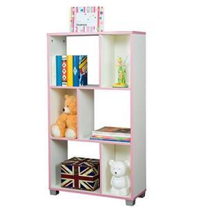雅客集 智慧之星 多层储物空间柜 环保木料 粉红色 WN-15086PI126元