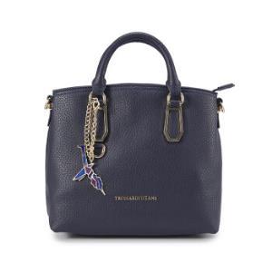 TRUSSARDI JEANS杜鲁萨迪女式深蓝色人造革树叶图形装饰手提包75B000751Y000015 U280 NR926元