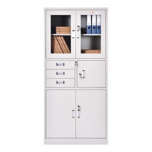 中伟文件柜办公柜钢制铁皮柜资料柜档案柜储物柜偏三抽文件柜419元