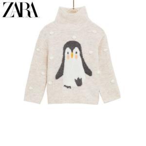 ZARA 新款 女婴幼童 企鹅针织衫 0333604962539元