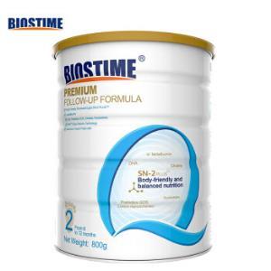 合生元(BIOSTIME)铂金优选系列婴幼儿奶粉2段800g(6-12个月)法国原罐进口直供 *2件264.66元(合132.33元/件)