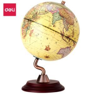 得力(deli)直径20cm木质底座S型支架地球仪 创意复古地球仪摆件221649.5元