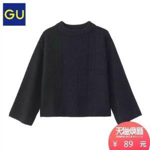 GU 极优 306700 女装 纽花针织衫