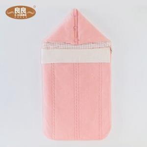 良良(liangliang) 婴儿抱被新生儿针织夹棉宝宝秋冬包裹式抱毯包被 蓝色66.75元