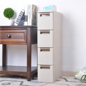 百露夹缝收纳柜塑料移动储物整理柜抽屉式组合收纳柜缝隙窄柜 加厚四层 *4件555元(合138.75元/件)