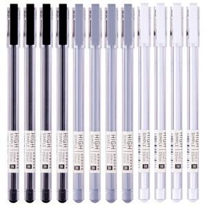得力(deli)极简主义0.5mm全针管黑色中性笔水笔签字笔 12支/盒 *5件 26.25元(合5.25元/件)