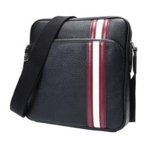 BALLY 巴利 男士黑色红白条纹皮质手提单肩斜挎包 SOREL TSP 00+凑单品2695元