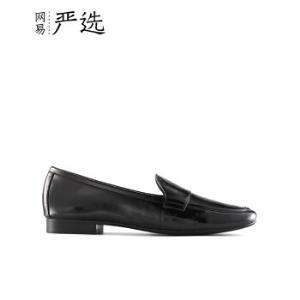 网易严选 头层软漆皮女士乐福鞋 单鞋女246.75元