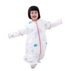 AUSTTBABY婴儿睡袋 秋冬恒温棉分腿睡袋新生儿宝宝儿童防踢被 一米阳光/80cm119元