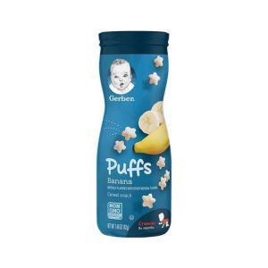 嘉宝(Gerber)全麦香蕉味水果星星泡芙 3段 42g/桶装 宝宝零食点心 原装进口 8个月以上23.9元