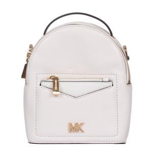 MICHAEL KORS 迈克・科尔斯 MK女包 女士白色牛皮小号双肩背包 30T8GEVB0L OPTIC WHITE1226元