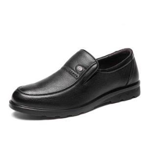 奥康(Aokang)头层牛皮套脚圆头皮鞋169元