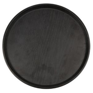 利得圆形黑色仿真托盘 家用塑料饺子托盘茶具水杯茶盘水果盘14.95元