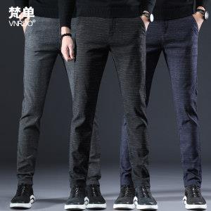 梵单 男士磨毛加厚休闲裤 有加绒款 送皮带  平常119元69元包邮