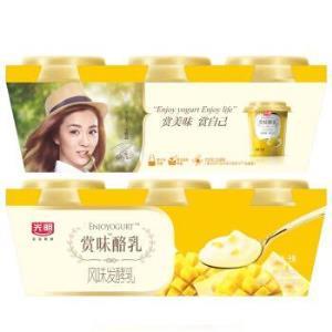 光明 赏味酪乳 风味发酵乳 芝士味芒果酸牛奶 100g*315.8元,可优惠至5.92元/件
