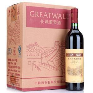 长城(GreatWall)红酒 特酿5年宝石解百纳干红葡萄酒 整箱装 750ml*6瓶227.8元