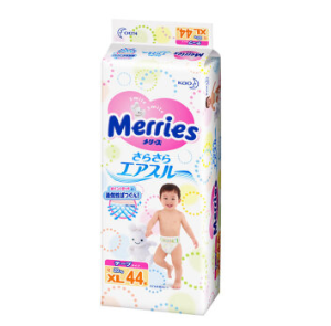 Merries 妙而舒 XL号婴儿纸尿裤 44片 109元