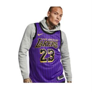 Nike 詹姆斯23号城市版球衣 AJ 紫 下单价5994618-510