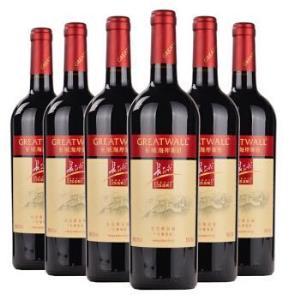 长城(GreatWall ) 红酒 海岸葡园红庄解百纳干红葡萄酒整箱装 750ml*6238元