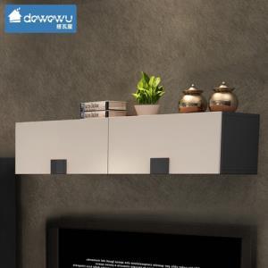 客厅电视背景墙吊柜烤漆壁柜组合 创意墙柜储物柜现代简约挂柜367元