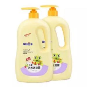 青蛙王子 儿童洗发沐浴露1.1L*2瓶 宝宝洗护二合一 沐浴露套装沐浴乳家庭装29.94元