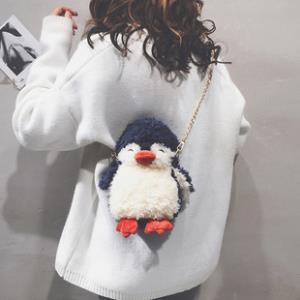 卡通毛绒链条小包包女可爱企鹅手机包 券后¥34